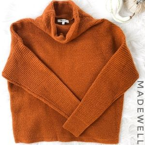 MADEWELL Southfield Mockneck Orange Sweater